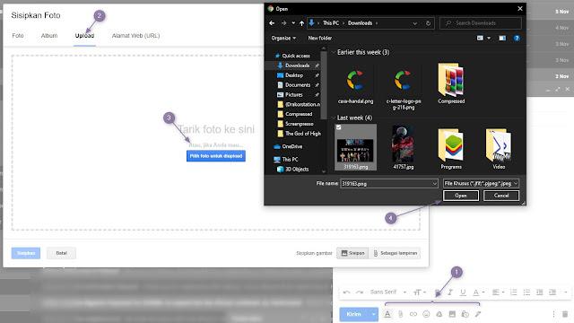 Cara Melampirkan File Penting dokumen, gambar ,video di pesan Email