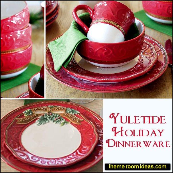 yulitide holiday dinnerware christmas dinnerware christmas table decorations