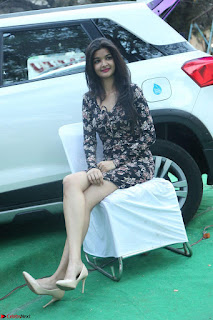 Kritika Telugu cinema Model in Short Flower Print Dress 021.JPG