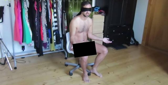 Novia deja pegado a su novio desnudo en una silla