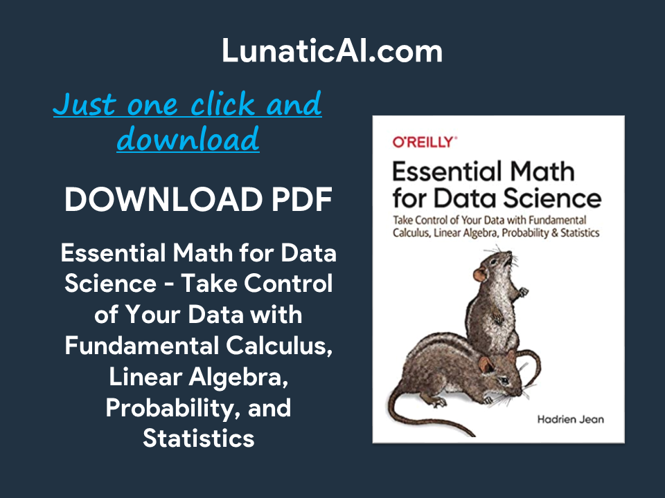 Essential math for data science pdf GitHub