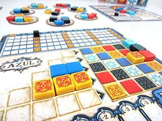 Componentes de Azul the board game
