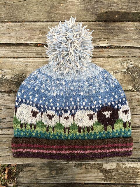 wzory czapek żakardowych dla dzieci i doroslych