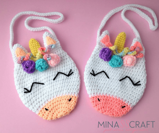 unicorn purse crochet pattern