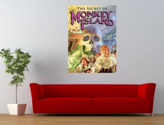 Póster grande videojuego Monkey Island