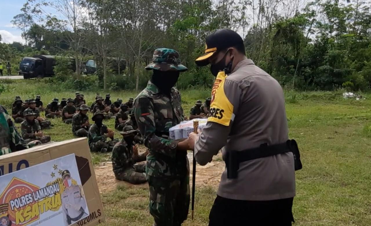 Perkuat Sinergitas dan Soliditas TNI-Polri, Kapolres Kunjungi Posko Latihan Rider