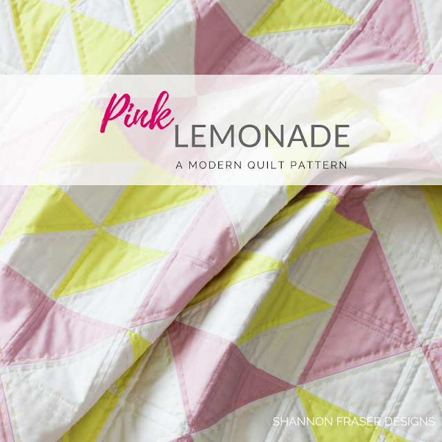 Pink Lemonade Quilt Pattern | Shannon Fraser Designs | Modern Quilting | Baby Girl Quilt