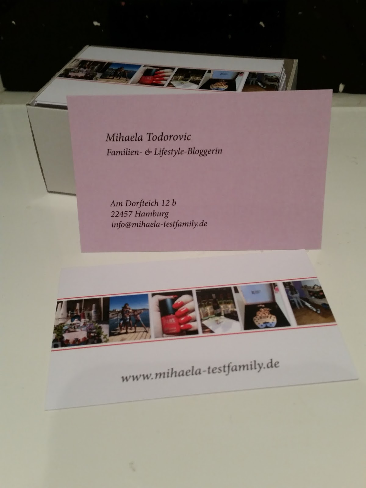 Ich Habe Endlich Tolle Visitenkarten Für Meinen Blog Dank