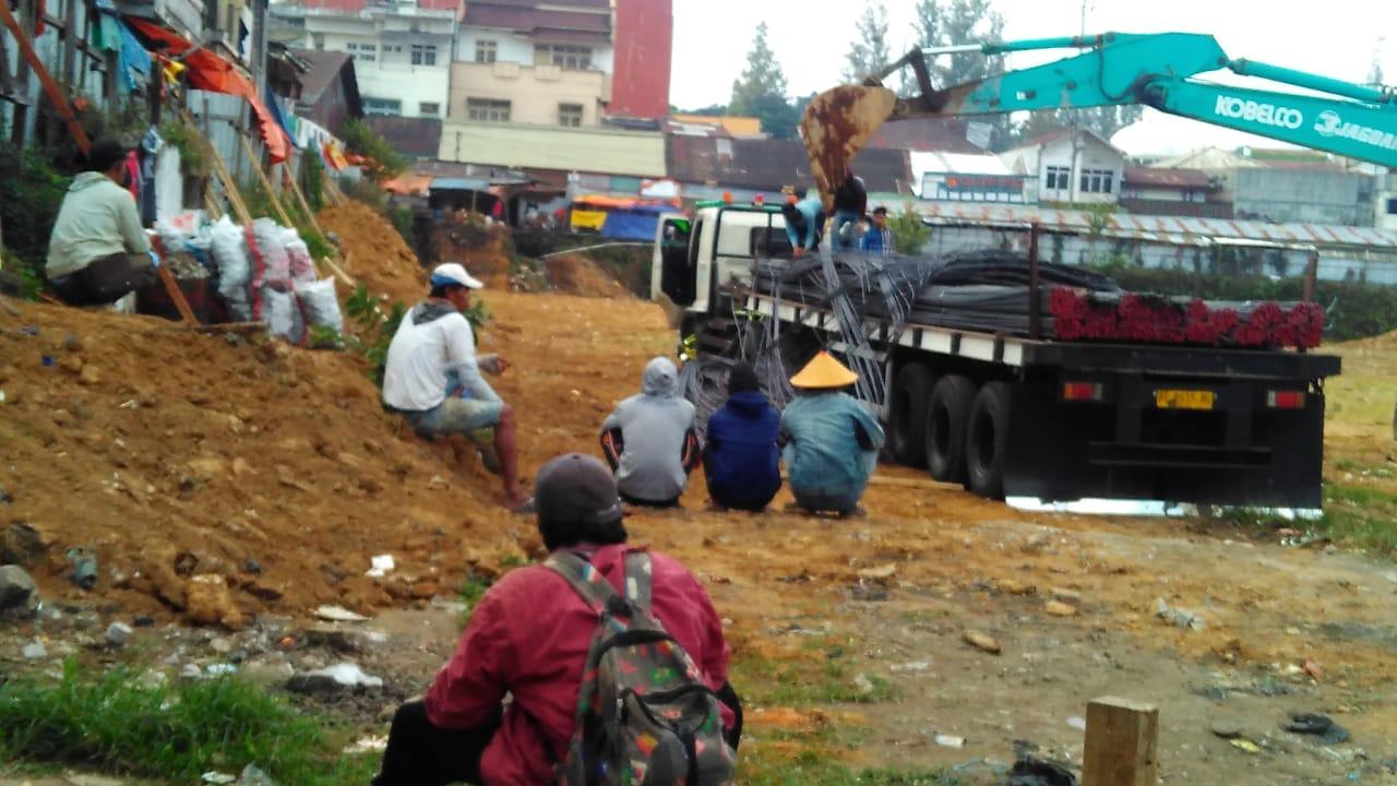 Pembangunan Pasar Induk Wonosobo Mulai Ada Aktifitas