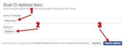 Monetisasi Blog Dengan Menampilkan Iklan Dari Facebook - Buat ID Aplikasi Baru
