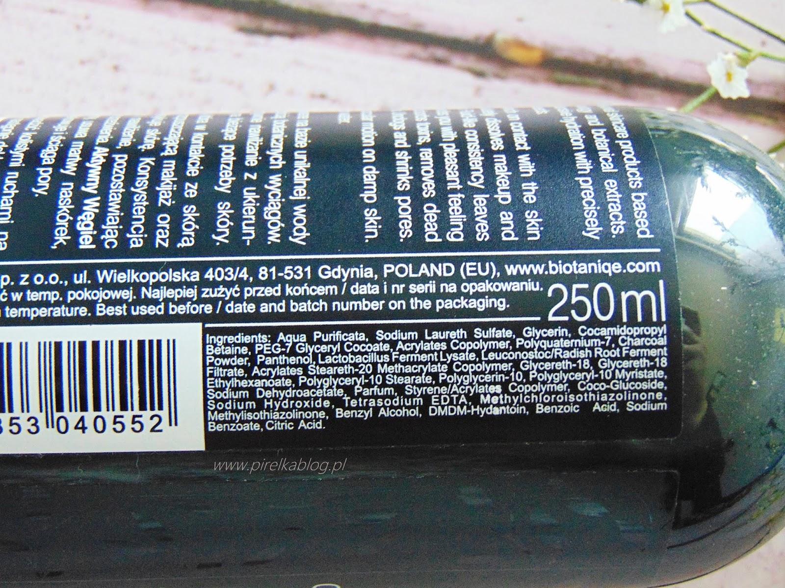 Biotaniqe, Węglowy żel myjący