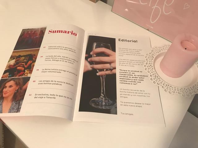 Revista Hola personalizada para bodas