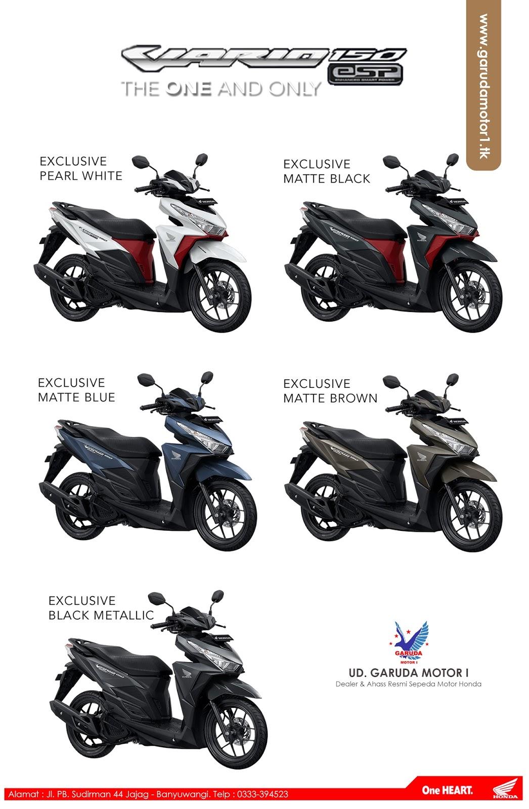 Bintang Motor New Vario 110 Esp Cbs Iss Estilo Black Depok Techno 150 Monoton Fi Otr Rp 21450000
