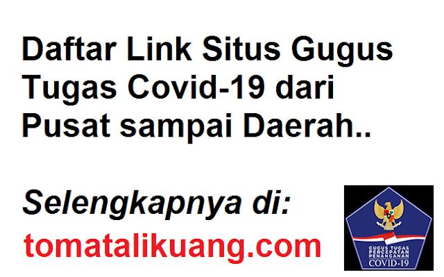 Daftar Link Situs Gugus Tugas Covid-19 dari Pusat sampai Daerah tomatalikuang.com