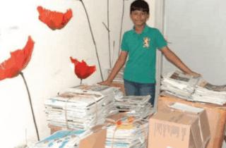 Jadi Aktivis Peduli Lingkungan, Bocah Ini Kumpulkan 650 Kg Koran Bekas www.simplenews.me