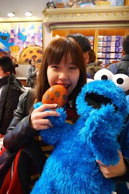 Cookie Monster Plush Toy at Universal Studios Japan Osaka