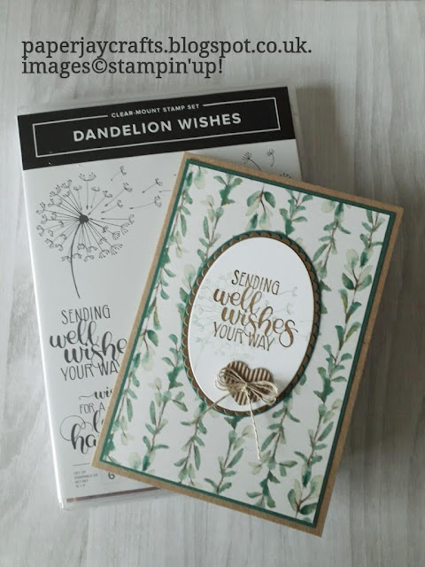 Dandelion Wishes, Get Well Card, Stampin Up