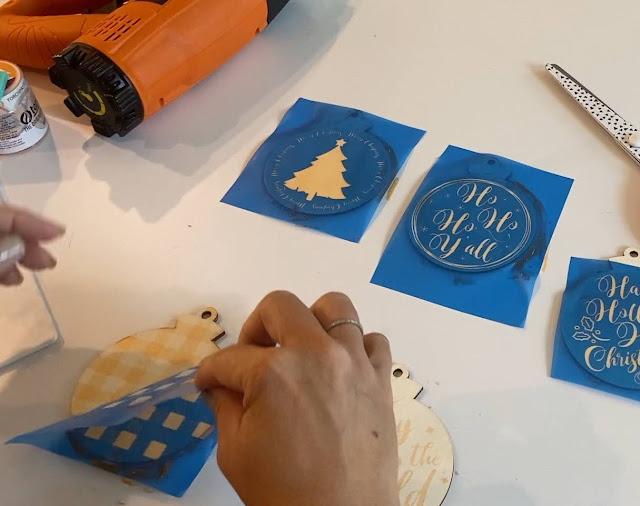 wood signs, Ikonart, heat press, Silhouette Studio v4, Silhouette stencils