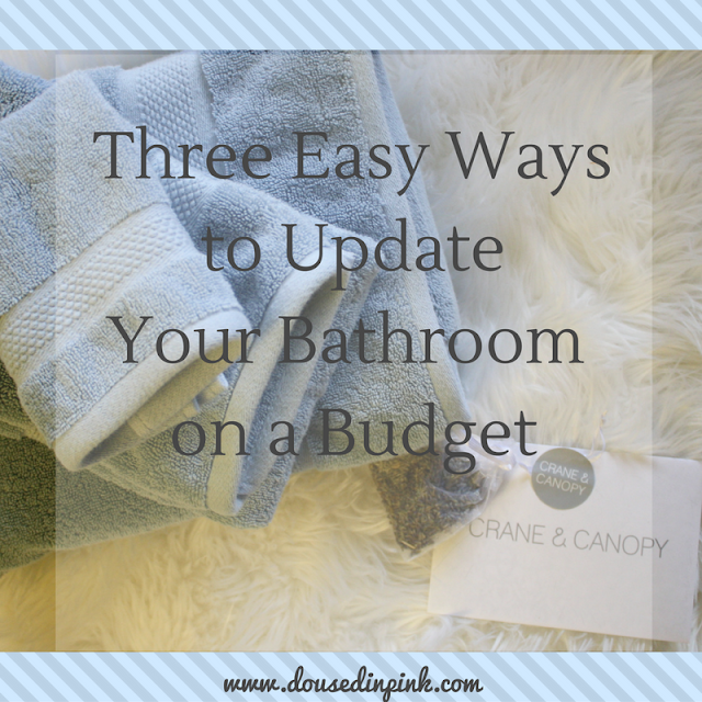 Three Easy Ways To Update Your Bathroom On A Budget Doused In Pink - How to update your bathroom on a budget