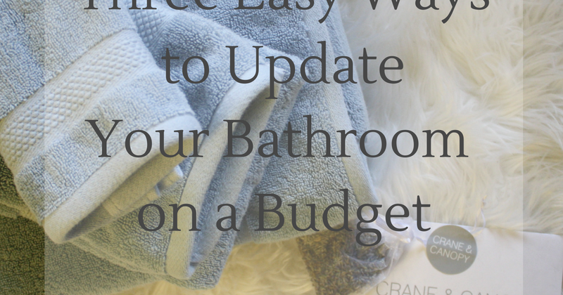 three easy ways to update your bathroom on a budget - doused in pink