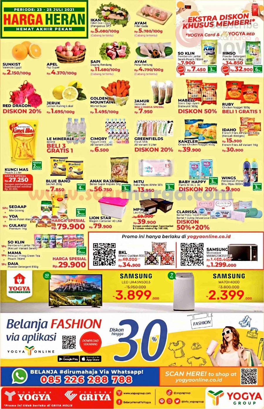 Katalog Promo Toserba Yogya Weekend Periode 23 - 25 Juli 2021