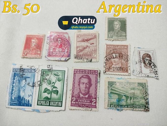 Estampillas de Bolivia, Argentina, España