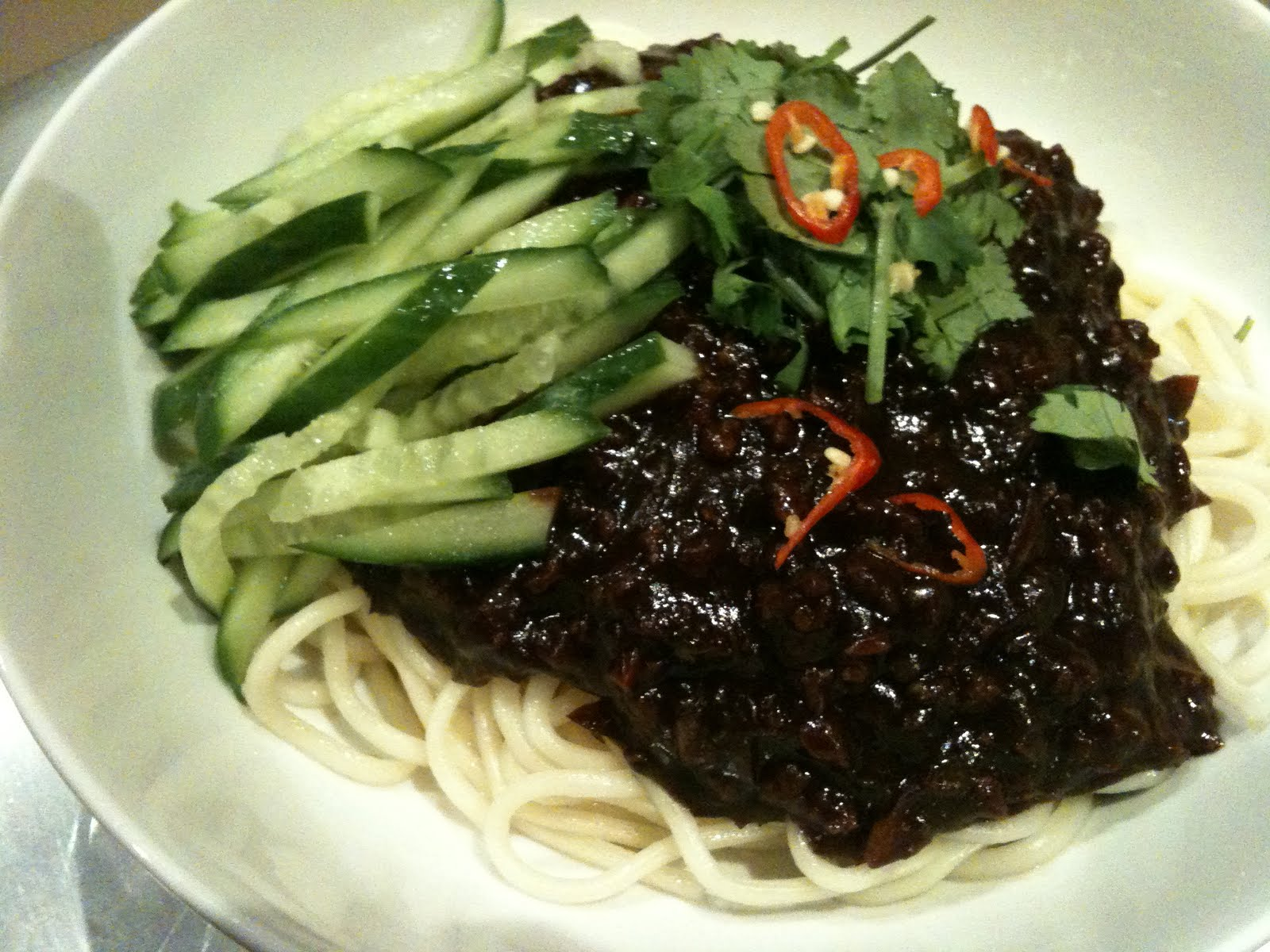 My Serene Spot Jia Jeung Mee The Asian Spaghetti Bolognese
