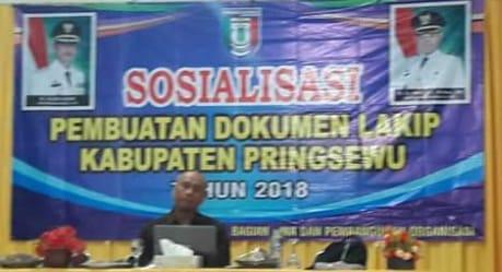"""Melalui Bagian Organisasi Pemkab Pringsewu Sosialisasikan Pembuatan Dokumen """"Lakip"""""""
