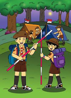 Cerita Pendek Anak Tiga Bahasa (Indonesia-Sunda-Inggris) Kemah itu Menyenangkan-Kemah téh Resep-Camp is Fun
