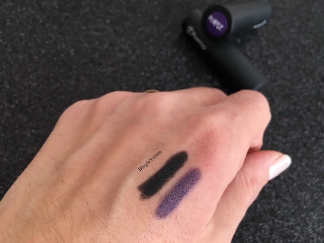 flormar khol kajal smoky eyes effect 001 black 004 purple swatches 3