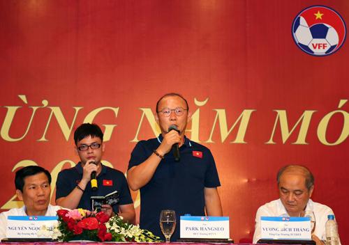 HLV Park tuyên bố đầy hứa hẹn trước ngày sang Thái Lan