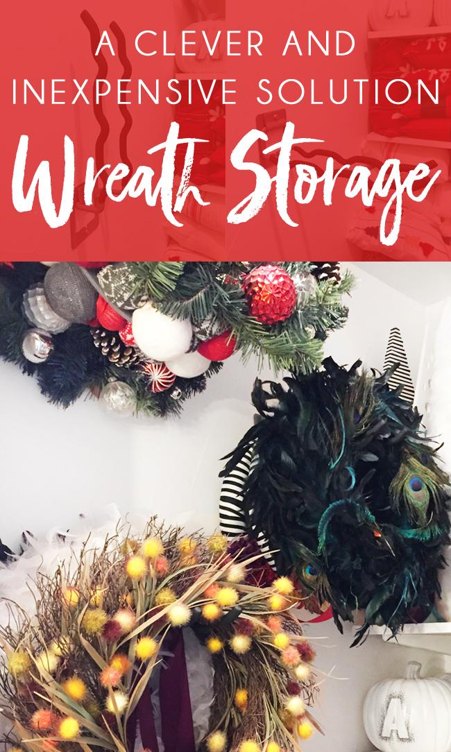 Wreath Storage Ideas including wreath storage hangers