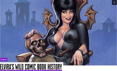 Fangrrls Presents Elvira's wild Comic Book History