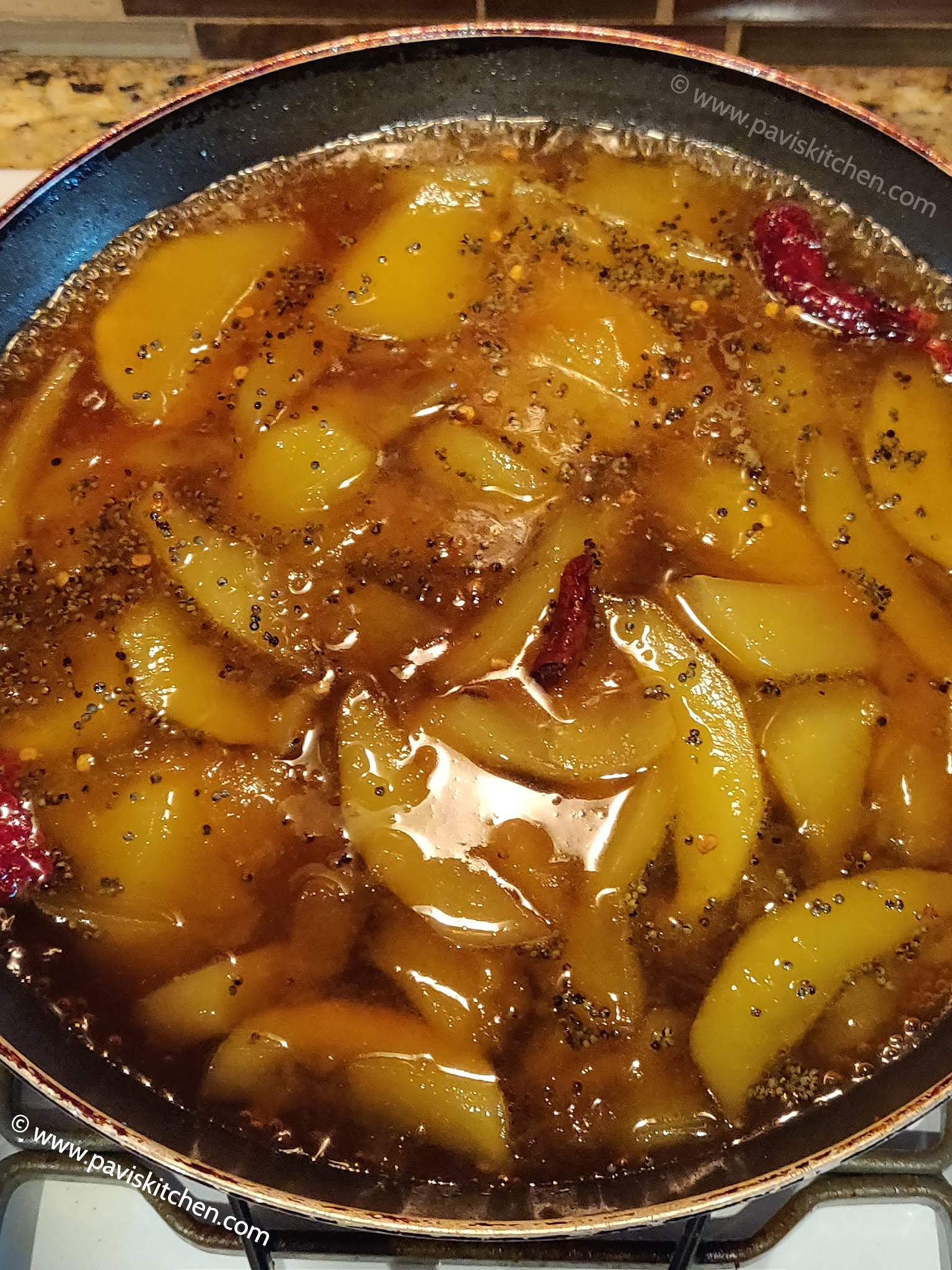 Raw mango pachadi | Sweet mango pachadi | Mangai vellam pachadi recipe