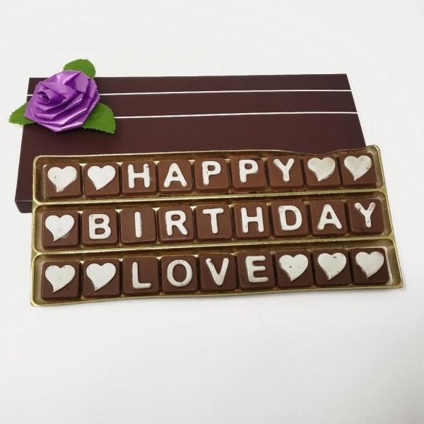 Handmade Chocolates With Message