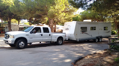 Travel trailer and 5th wheel moves in Spain