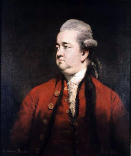 Edward Gibbon, as depicted by the English portrait artist Joshua Reynolds
