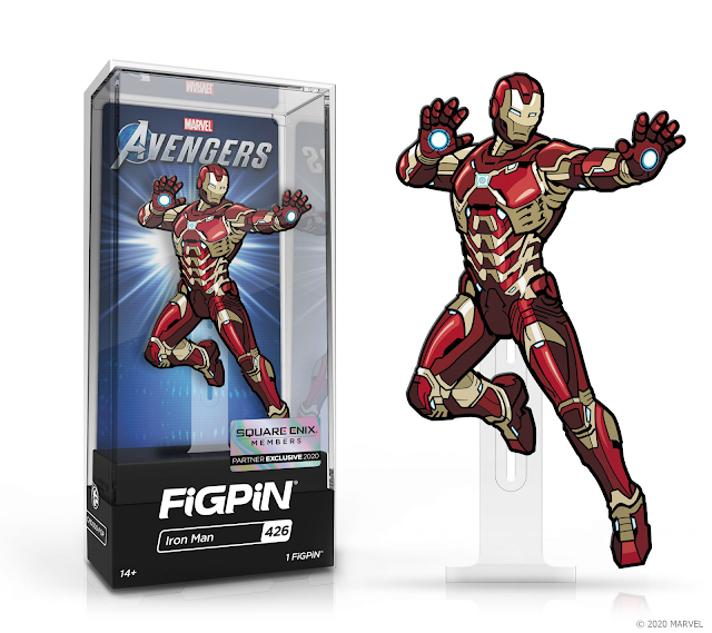 marvel's avengers beta second war table info Iron Man collectible enamel pin FiGPiN