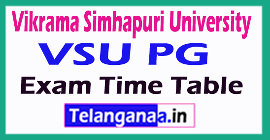 Vikrama Simhapuri University VSU PG Exam Time Table