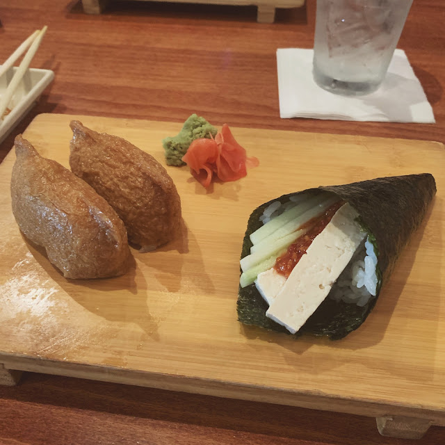 nama knoxville bearden - inari and spicy tofu handroll