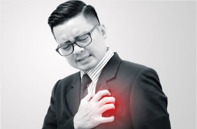 What causes the left chest pain?