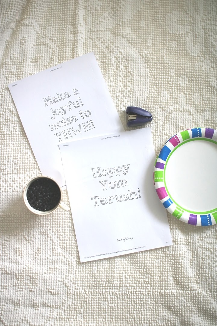 Easy printable noisemaker craft for Yom Teruah and the Feast of Trumpets | Land of Honey