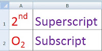 How to Make Text and Number Subscript and Superscript in Excel in Hindi