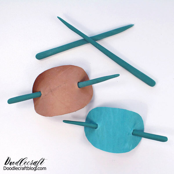 How to Make a Faux Jade Resin Stick Barrette!   Learn how to make a faux jade stick barrette. It's a breeze using Easy Sculpt epoxy clay and scrap tooling leather. Perfect for totally chic hairstyles!