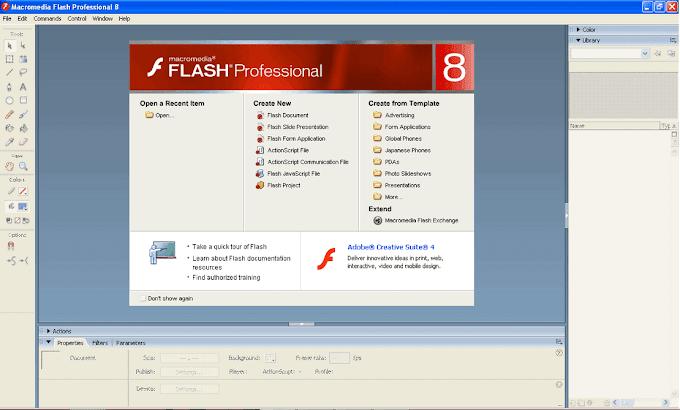 Belajar Macromedia Flash 8 : Pembuatan Obyek