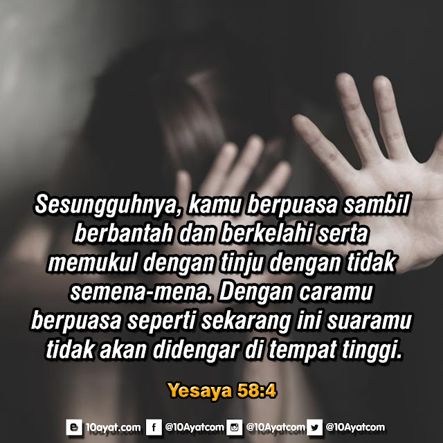 Yesaya 58:4