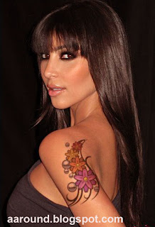 Kim Kardashian with Tattoo