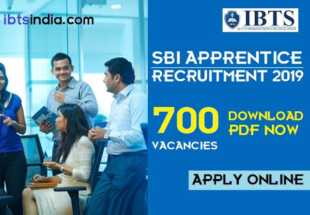 SBI Apprentice Recruitment 2019 Notification: 700 Vacancies (Download PDF)