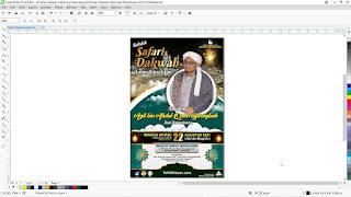 Desain Baliho Pengajian Tahun Baru Islam CDR