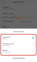 how to change keyboard of android phone